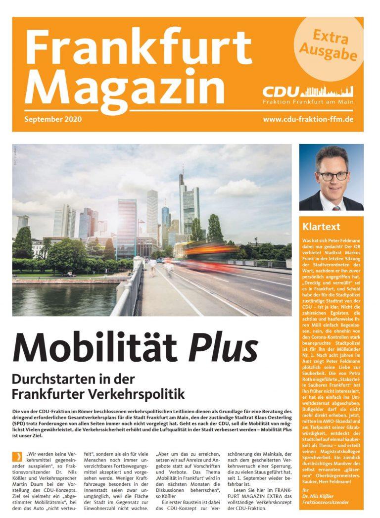 CDU Fraktion Frankfurt Magazin Extra Ausgabe September
