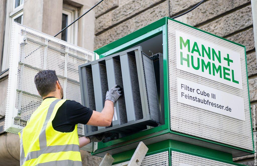 Filter Feinstaub Bauarbeiter