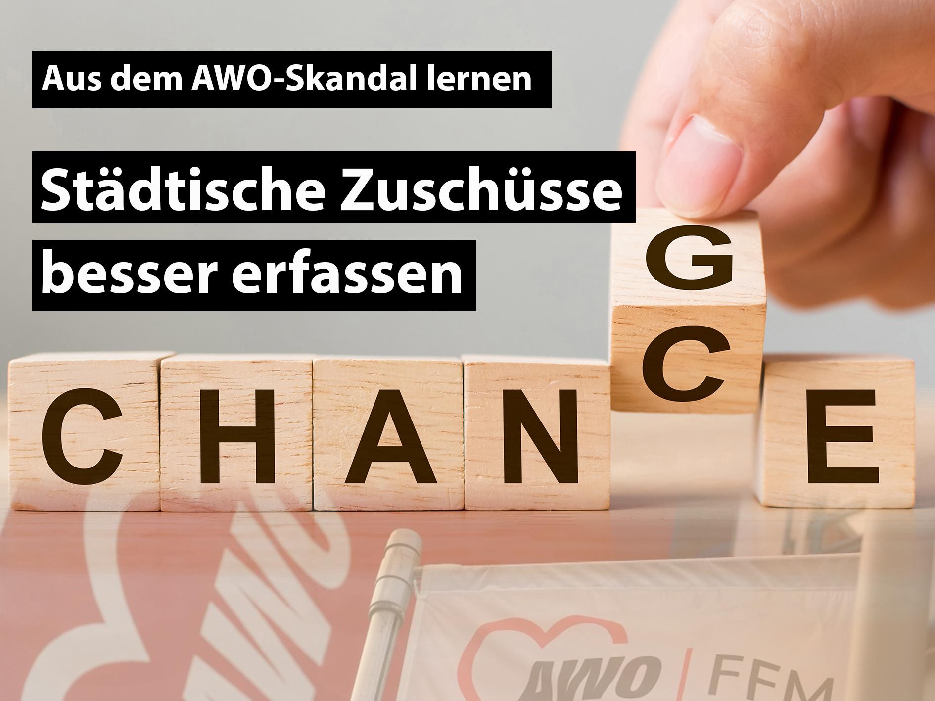 Chance - Change - Buchstaben - Collage