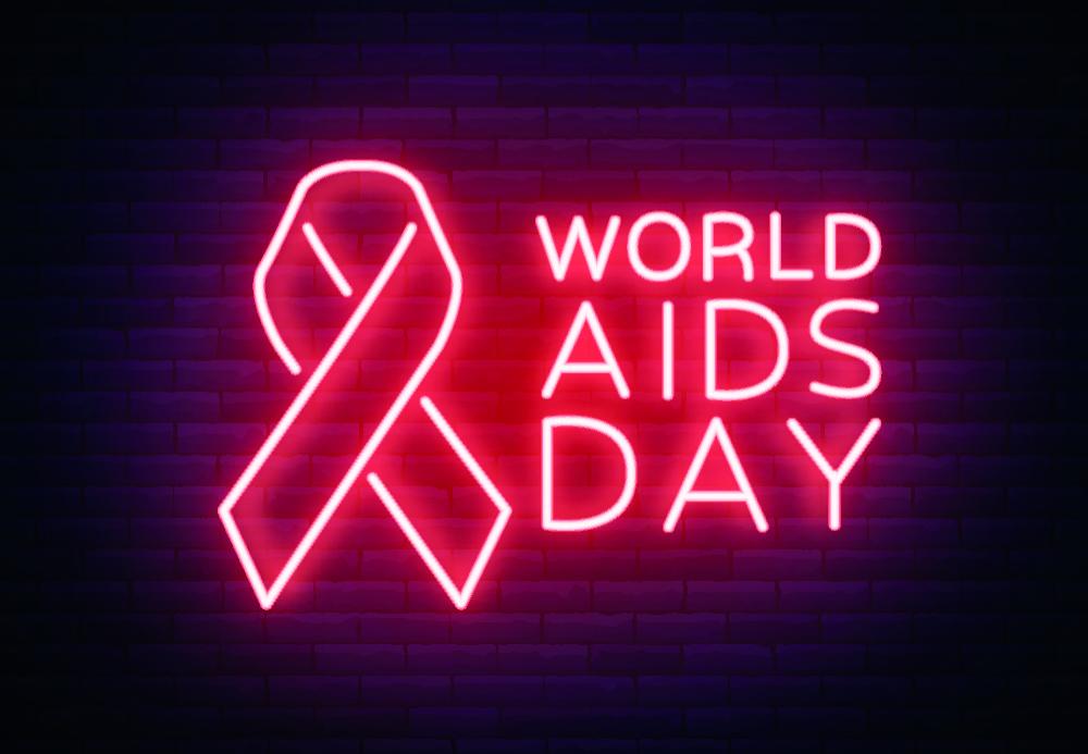 Neon Schrift World Aids Day