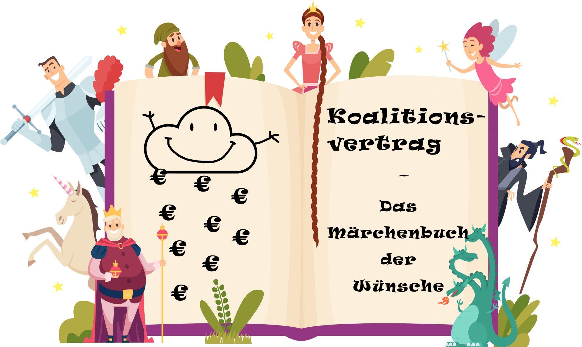 Märchenbuch mit Märchenfiguren