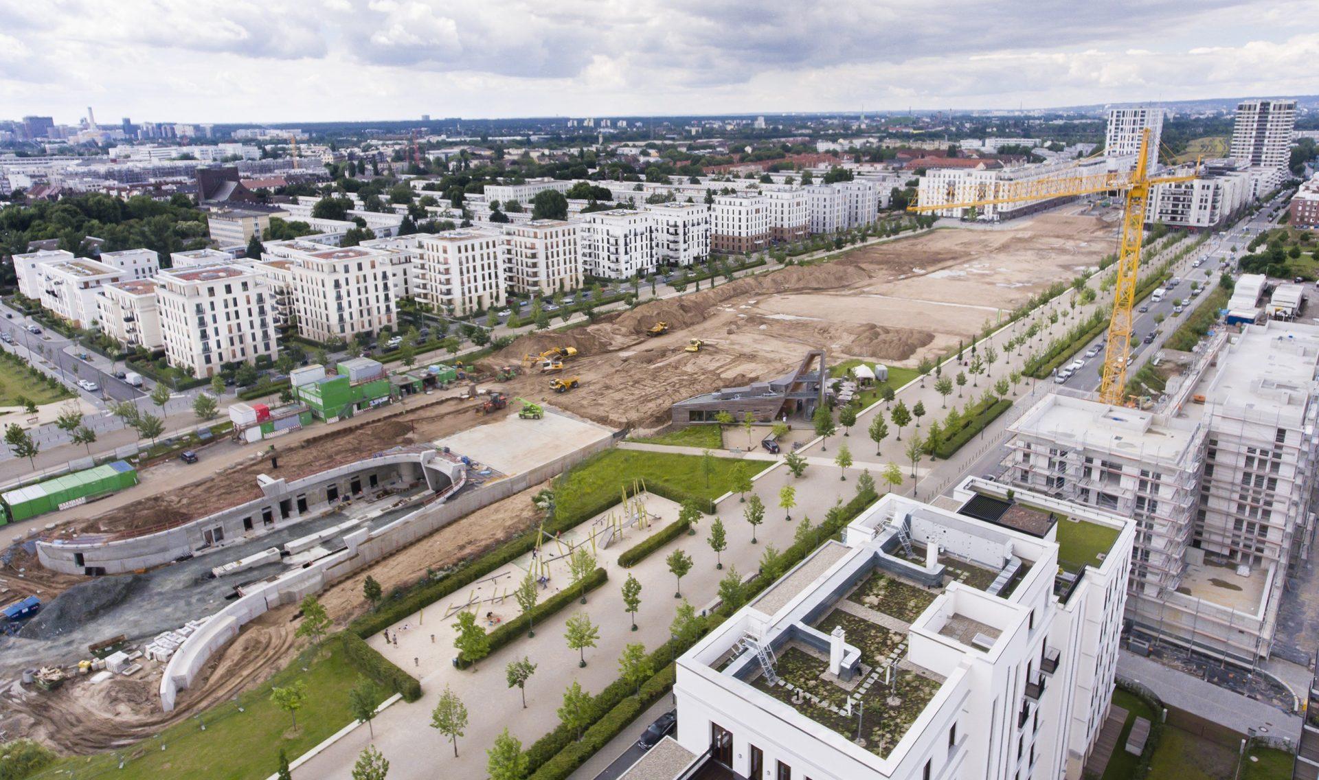 Baustelle Europagarten Frankfurt am Main