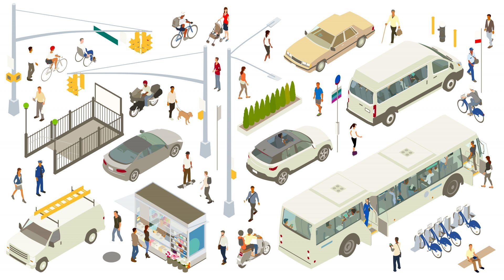 Illustration Verkehrsmittel