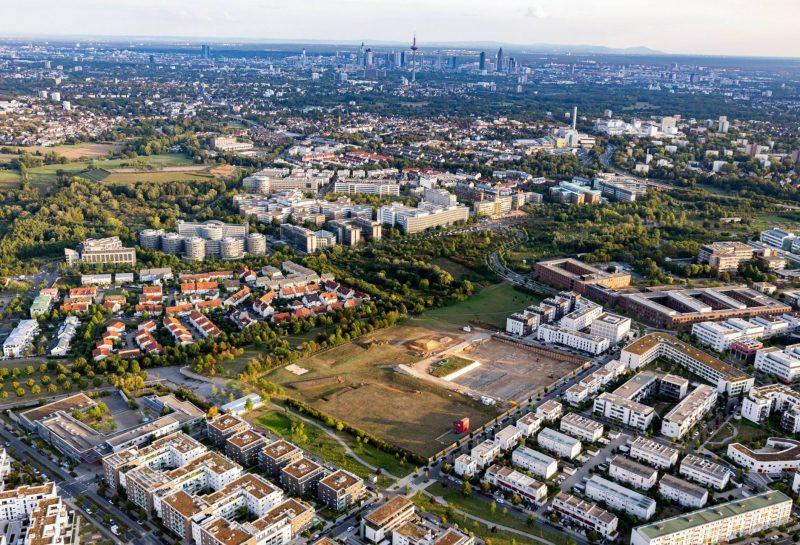 Frankfurt am Main Überblick Stadt mit Bauland