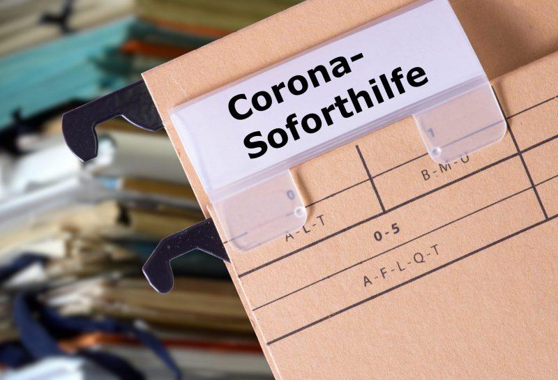Ein Ordner für Coronavirus Soforthilfe
