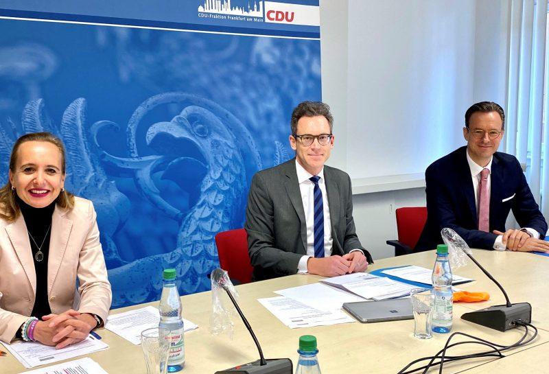 Pressekonferenz CDU-Fraktion Frankfurt zum Thema Drogenpolitik